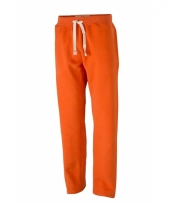 Oranje joggingbroek met steekzakken voor heren