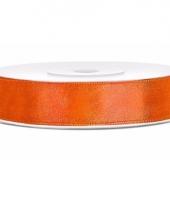 Oranje kadolinten satijn 12 mm 10085137