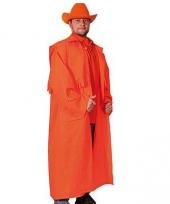 Oranje kleding cowboy jas
