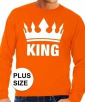 Oranje koningsdag king kroon grote maten sweater trui heren