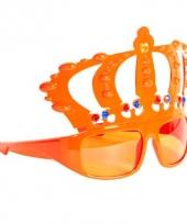 Oranje kroon feest bril