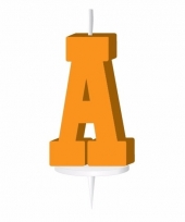 Oranje letter kaars a