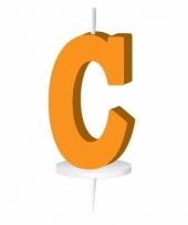 Oranje letter kaars c