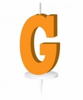 Oranje letter kaars g