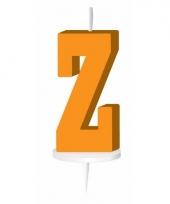 Oranje letter kaars z