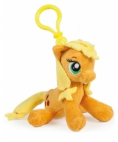 Oranje my little pony tashanger knuffeltjes 12 cm