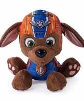 Oranje paw patrol hondje knuffeldier 15 cm