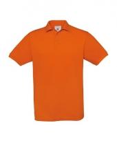 Oranje polo shirt met korte mouw