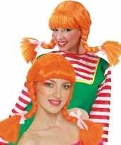 Oranje pruik van sterk zweeds meisje 10099552