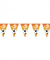 Oranje punt vlaggenlijn voetbal 6 m
