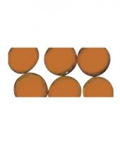 Oranje ronde mozaiek