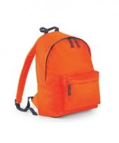 Oranje rugtas met voorvak