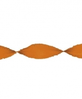 Oranje slinger van crepe papier 24 m