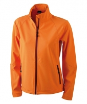 Oranje softshell jas voor dames 10048597