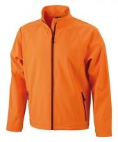 Oranje softshell jas voor heren 10048596