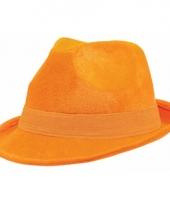 Oranje stoffen hoeden voor volwassenen