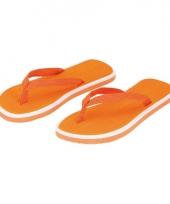 Oranje strand slippers voor heren 10056516