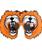 Oranje supporters bril met leeuw