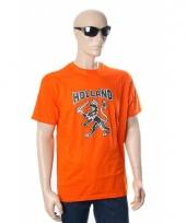 Oranje supporters shirt met leeuw