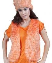 Oranje vestje zonder mouwen dames