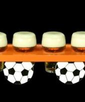 Oranje voetbal dienblad