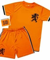 Oranje voetbalkleding voor kinderen