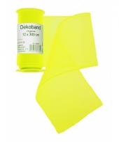 Organza rol neon geel 12 x 300 cm