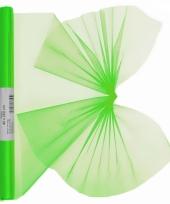 Organza strook neon groen 40 x 200 cm