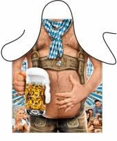 Origineel kado oktoberfest schort bierbuik