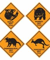 Outback borden australie 4 stuks