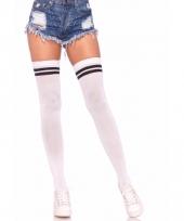 Overknee sokken wit zwart voor dames
