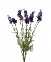 Paarse lavendel kunstplant 40 cm