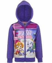 Paarse paw patrol meisjes sweater