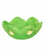 Paasontbijt broodmandje groen bloem