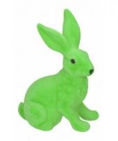 Paasontbijt grote groene paashaas tafeldecoratie 23 cm