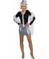 Pailletten rok top zilver