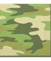 Pakje servetten in armyprint 16 stuks