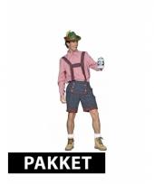 Pakket met tiroler kleding voor heren maat xl