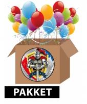 Pakket voor ridder themafeest