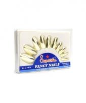 Pakketje met nagels in gouden kleur