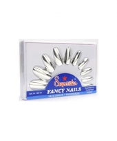 Pakketje met nagels in zilveren kleur