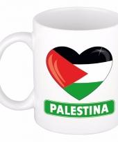 Palestijnse vlag hartje koffiemok 300 ml