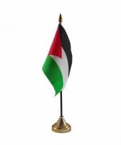 Palestina tafelvlaggetje 10 x 15 cm met standaard