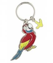 Papegaai sleutel hangertje 5 cm
