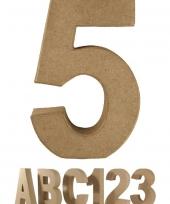 Papier mache cijfer 5 om te beschilderen