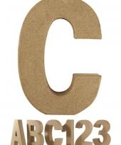 Papier mache letter c om te beschilderen