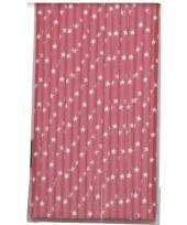 Papieren rietjes met ster dessin roze