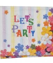 Papieren servetten lets party 16 stuks