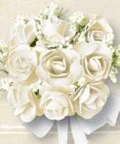 Papieren servetten met witte rozen 60 stuks