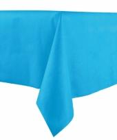 Papieren tafelkleed middenblauw 140 x 240 cm